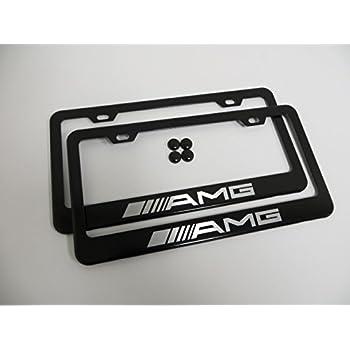 Amg carbon fiber license plate frame cover tag for Mercedes benz amg carbon fiber license plate frame