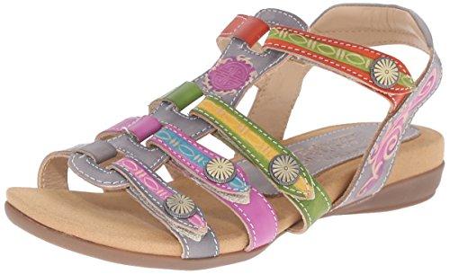 L'Artiste by Spring Step Women Gipsy Flat Sandal Gray Multi