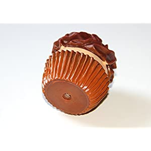 Cute Chocolate Frosting Cupcake Desert Shape Squeaky Dog Toy Rubber Squeaker GREAT GIFT