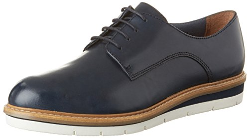 Tamaris 23202, Zapatos De Cordones Oxford Mujer Azul (NAVY LEATHER 848)