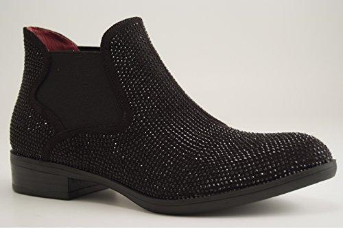 CAFèNOIR ED911 - Zapatos de tacón de lona para mujer I16.010 NERO