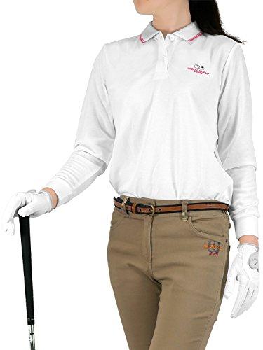 (ウッディワールド) WOODY WORLD レディース ゴルフ 吸汗速乾 鹿の子 ポロシャツ pc-601