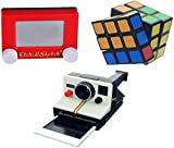 Worlds Smallest Rubik's Cube, Etch a Sketch & World's Coolest Polaroid Camera Bundle Set of 3