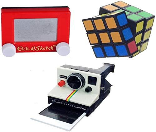 Cube World Toy - Worlds Smallest Rubik's Cube, Etch a Sketch & World's Coolest Polaroid Camera Bundle Set of 3