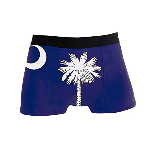 Mens Stretch Underwear South Carolina Boxer Briefs Printed