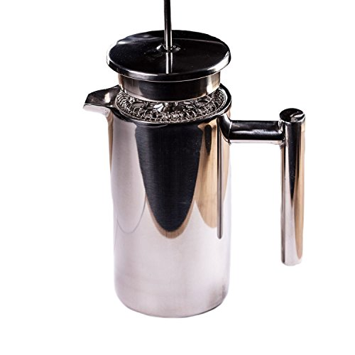 Stainless Steel French Press - 350ml Coffee and Tea Press Perfect For Serving Yourself (350ml - 12 ounce)