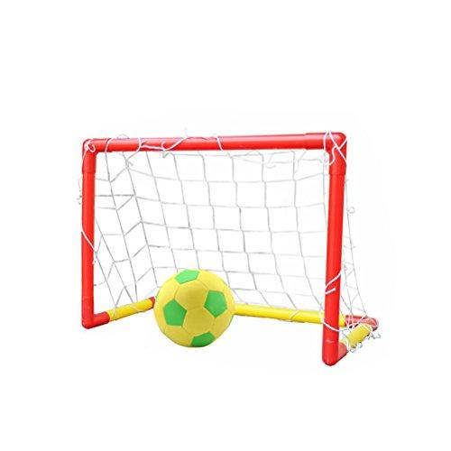 Inflatable Football Goal Post (TOYMYTOY Kids Football Goal Posts Soccer Goals Set with Inflatable Soccer Ball for Kids Children Football Training Set)