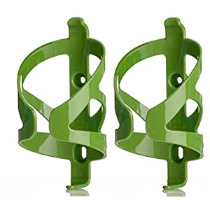 50 Strong Bicycle Water Bottle Cage 2 Pack – Made in USA – Easy to Install – Green