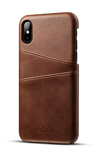 iPhone XS X Wallet Phone Case Slim PU Leather Back Protective Cover Card Holder