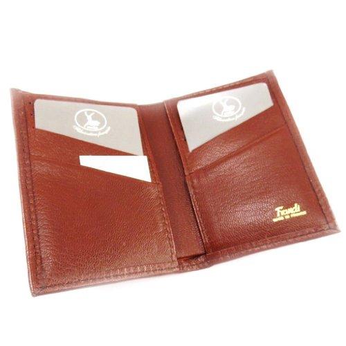 Leather card holder 'Frandi' cognac (goat).
