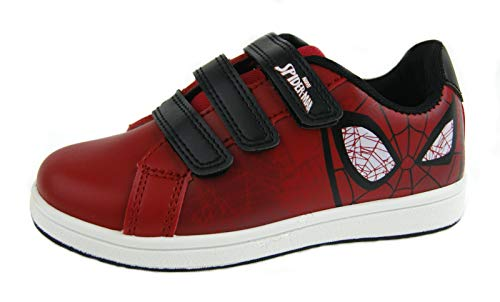 Marvel Boys Spiderman Skate Shoes Sports Trainers -