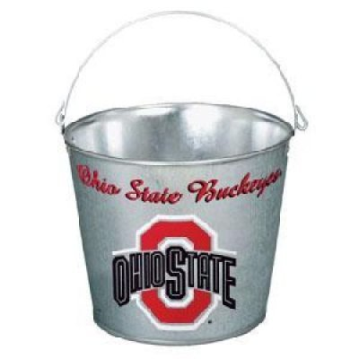 NCAA Ohio State University Galvanized Pail, 5 quart