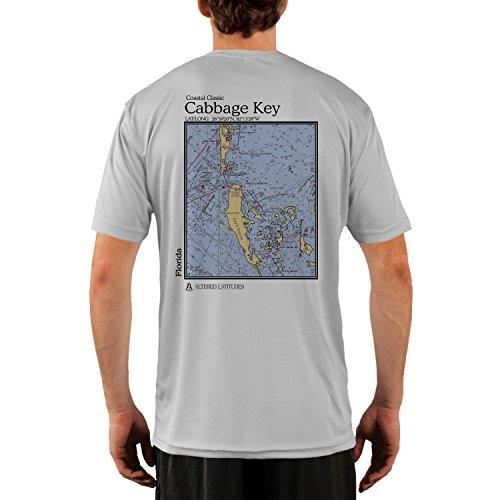 Altered Latitudes Coastal Classics Cabbage Key Chart Men's UPF 50+ Short Sleeve T-Shirt Large Pearl Grey