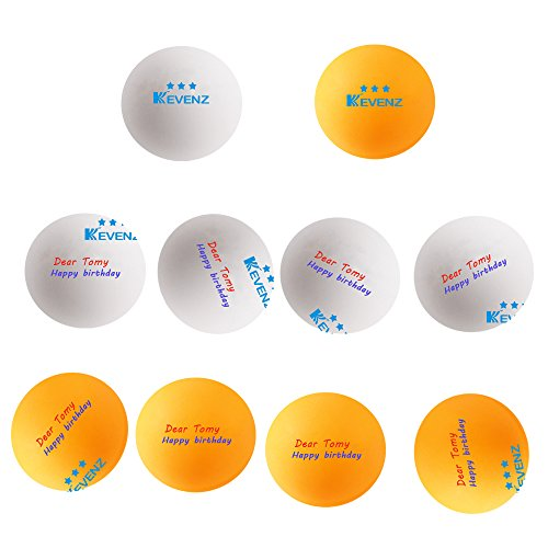 Why Should You Buy 100-Pack Kevenz 3-Star Ping-pong Balls Magic Custom,-Add Your Name & Text and Log...