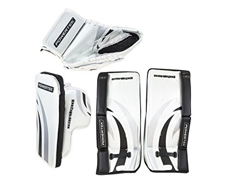 Youth Hockey Goalie Leg Pads (New PowerTek Barikad V2.0 Youth Hockey Goalie Pad Set 24
