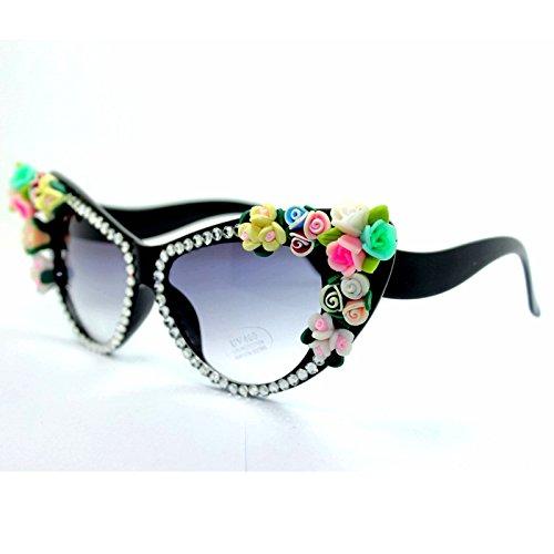 Mujeres Para De Strass Moda Gafas TIANLIANG04 Ojo Gafas Gato De 0B1aq1w