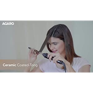 AGARO HC-8001 Hair Curler with 10mm Barrel & PTC Heating Technology