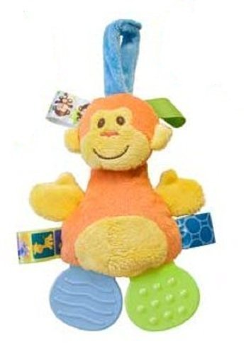 Mary Meyer TAGGIES Crinkle Zoo Teether 7 Inches Monkey