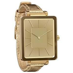 Nixon A273502-00 - Reloj analógico de cuarzo para mujer con correa de piel, color dorado
