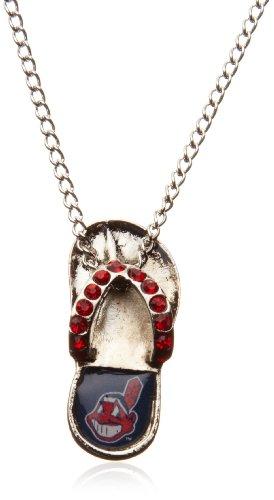 MLB Cleveland Indians Crystal Flip Flop Necklace