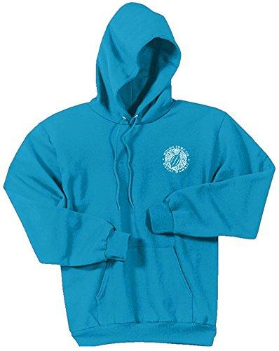 Sweatshirt Blue Hoody Logo Classic - Koloa Hawaiian Turtle Logo Hoodies-Hooded Sweatshirt-Neon.Blue-S