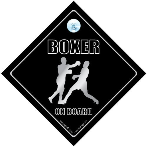 Boxing on Board Schild Sport-Aufkleber Baby on Board Boxer Car Sticker Auto Boxer on Board Aufkleber Aufschrift Aufkleber Autoaufkleber