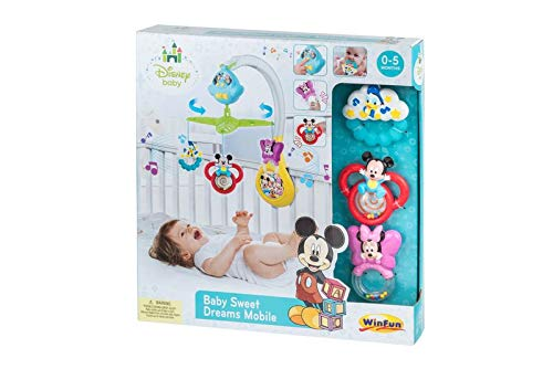 Mobile Disney Musical (WinFun DISNEY Baby Musical Sweet Dreams Mobile Creative with Sounds Effects Melodies)