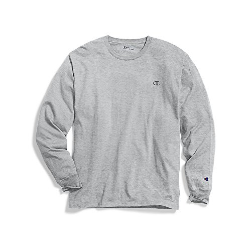 ic Jersey Long Sleeve T-Shirt, Oxford Gray M ()