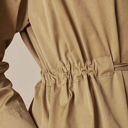 Cappotti Donna Alta Vita Vento Da Parola Moda Gonna Primavera Casual Giacca Giacche Vi A Retrò Donna Camicia Nera Brown Una rPwRtnrxv