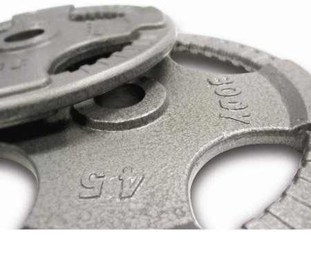 Body-Solid Grey Hand Grip Olympic Plate