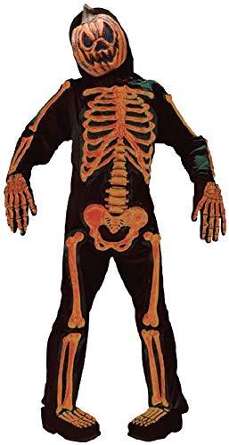 Boys Pumpkin Skeleton Jack O Lantern TV Book Film Halloween Fancy Dress Costume Outfit 7-12 Years (7-9 years) -