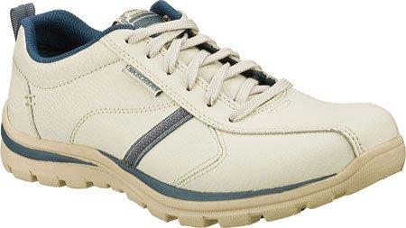 Skechers SuperiorLevoy - Zapatillas de piel para hombre, blanco