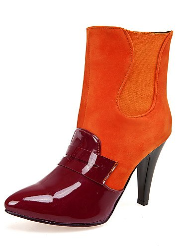Eu42 Orange Beige Vestido Patentado 5 5 Botas Sintético negro Tacón Zapatos Puntiagudos Xzz Ante Botines Uk8 Cn40 Uk6 us10 Mujer Orange us8 Rojo De 5 Stiletto Cuero Eu39 5 Cn43 wvHgqq8Zx