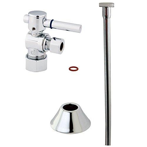 Kingston Brass Angle Stop - Kingston Brass CC53301DLTKF20 Contemporary Plumbing Toilet Trim Kit, Polished Chrome