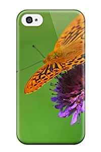 Ideal MosesEGarcia Case Cover For Iphone 4/4s(butterfly On A Flower), Protective Stylish Case
