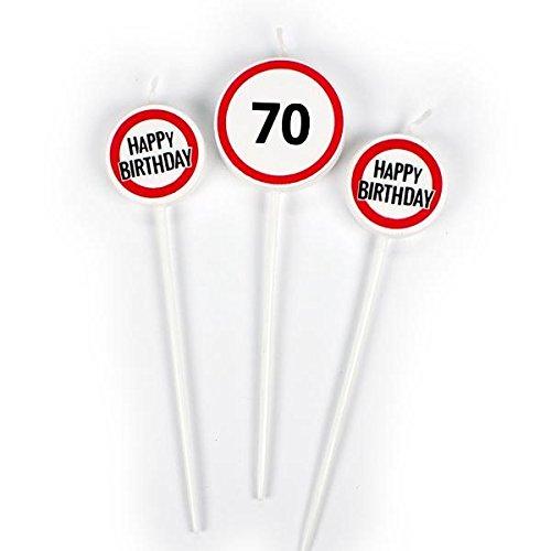 Lot de 3 Trendhaus Trendhaus942142/Anniversaire Fun 70/ème Bougie