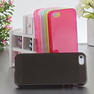Matte Clear Ultra Thin TPU Gel Case Protector For iPhone 5 5G 5S & Color = Deep Grey