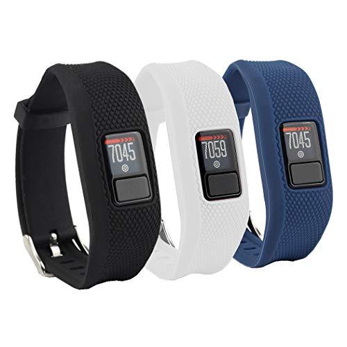 Tkasing Compatible with Garmin Vivofit 3/jr/jr 2 Bands,Adjustable Replacement Wristbands with Watch Buckle for Garmin Vivofit 3 Kids Women Men(No Tracker)