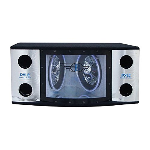 (Pyle PLBN122 Dual 12'' 2 Way 1200 Watt Bandpass w/Blue Woofer Rings)