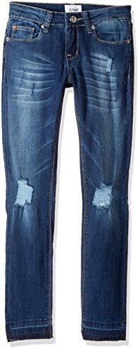 HUDSON Girls' Big Christa Super Stretch Skinny with Release Hem, Vintage Blue wash, 7 - Hudson Vintage Jeans