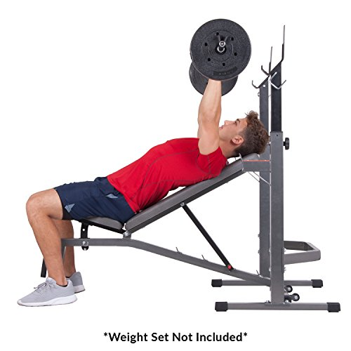 Two Piece Set Olympic Weight Bench With Squat Rack Bcb3835