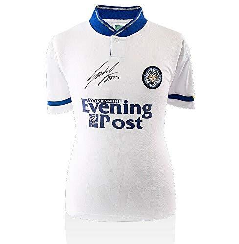 Gordon Strachan Autographed Jersey - Retro Leeds United Shirt - Autographed Soccer Jerseys