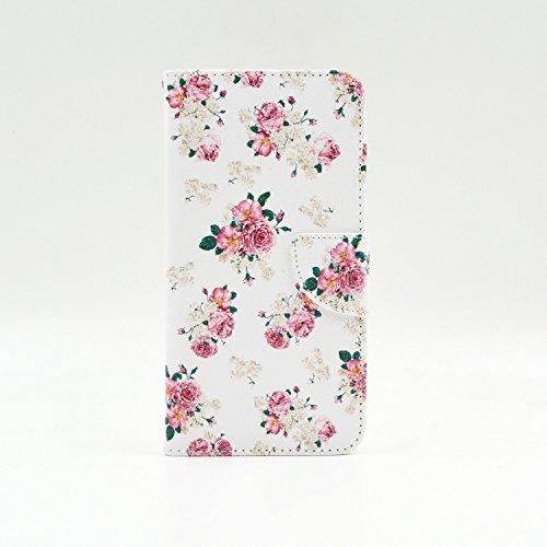 G3s Case G3 VIGOR Case LG G3 Mini Kickstand Case,Tribe-Tiger Duplex Bulgarian Rose Design Premium Pu Leather Magnet Flip Folio Wallet [Built-in Card Slots] Kickstand Case Cover for LG G3 Mini LG G3 VIGOR Sprint LG G3s(Not Fit For LG G3) - Sprint Lg Vigor
