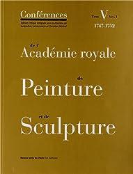 Les Conférences de l'Académie royale de Peinture et de Sculpture - Tome V (volume 1)