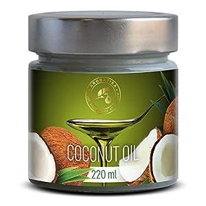Olio di Cocco Pressato a Freddo 220ml - Indonesia - Extra Vergine - 100% Puro e Naturale - Miglior per ad Uso Alimentare 8 spesavip