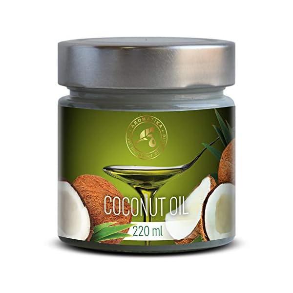 Olio di Cocco Pressato a Freddo 220ml - Indonesia - Extra Vergine - 100% Puro e Naturale - Miglior per ad Uso Alimentare 1 spesavip