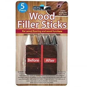 Wood Filler 5 Sticks Set for wood Furniture and flooring scratches and flaws Repair