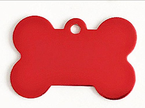 Pet Traction Rope Collar Set Bone-Shaped Dog Tag Leash Pendant Tag Collar Accessories(Red