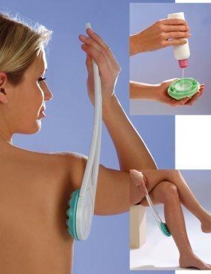 Russka Body-Creamer m.abnehmb.Stiel weiß/mint