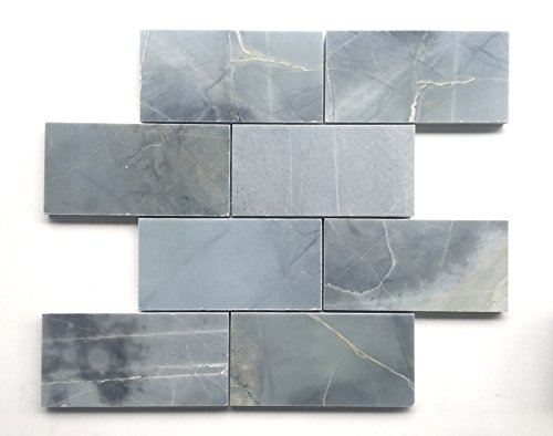 Genoa Blue 3x6 Polished Marble Tile Backsplash Wall (Blue Polished Flooring)